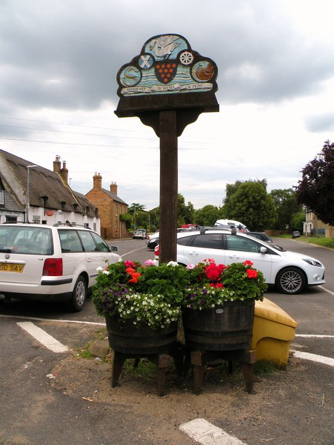 The village sign at Swavesey