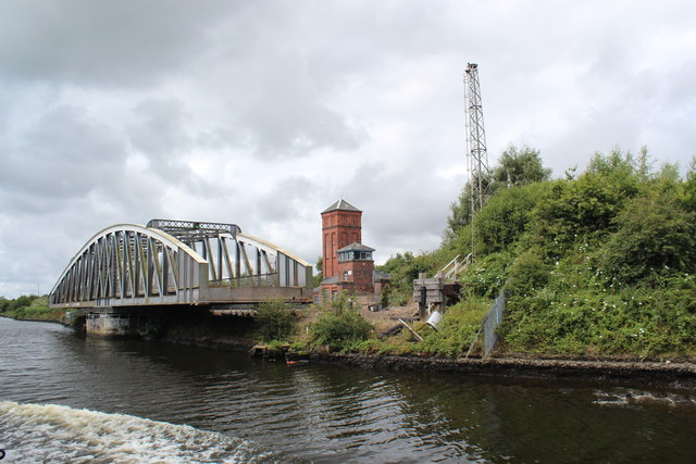 Manchester Ship Canal - Moore Lane Swing Bridge