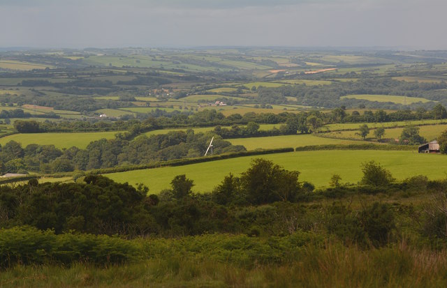 View from Woodland Common, West Anstey, Devon