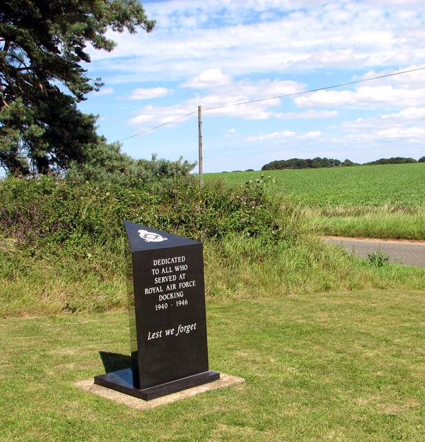 Memorial at RAF Docking