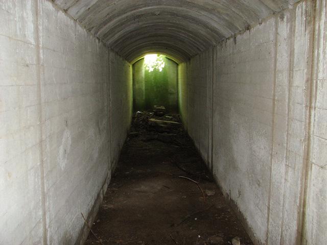 View inside an air raid shelter