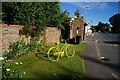SE8543 : Yellow Tour de France bike in Shiptonthorpe by Ian S