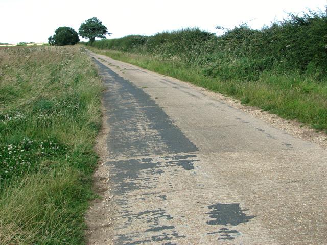 Minor road past Friar's Thorne Farm