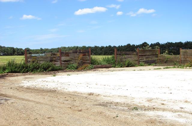 Farm hardstanding beside Burnham Road