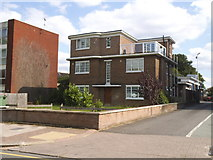 TQ1785 : Modernist block by Wembley Fire Station by David Howard