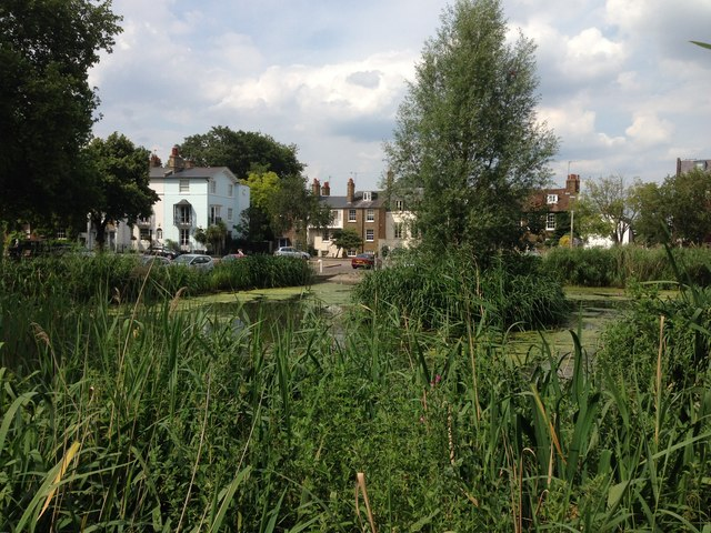 View across the pond by Kew Green