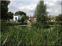 TQ1977 : View across the pond by Kew Green by Trevor Harris