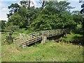 NU1321 : Footbridge across the Red Burn by Graham Robson
