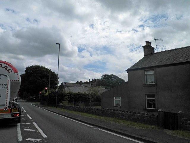 Traffic lights on the A623 Peak Forest