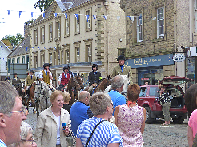 Riding through the streets of Kelso