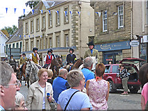 NT7233 : Riding through the streets of Kelso by Oliver Dixon