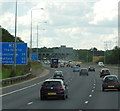 TQ5593 : M25 towards junction 27 by Ian S