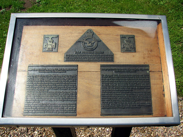 Memorial plaque by St Mary's church