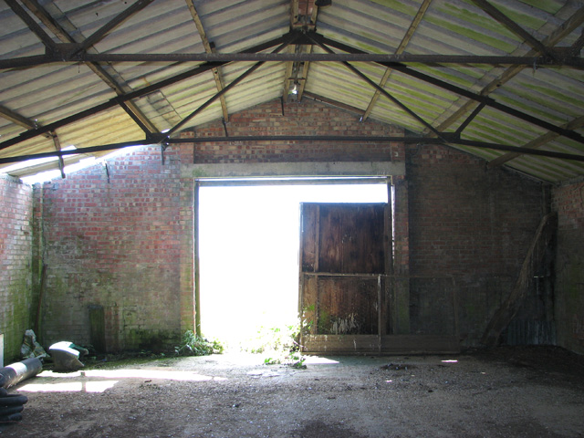 Old airfield building - interior
