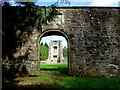 H1859 : Curved archway, Old Castle Archdale by Kenneth  Allen