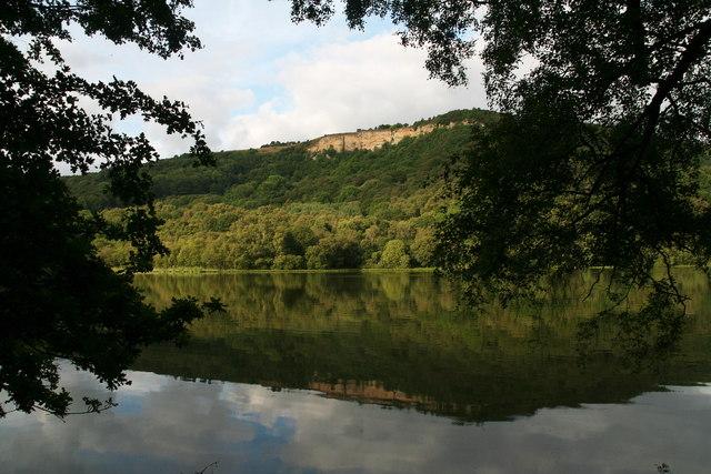 Reflection of Whitestone Cliff in Lake Gormire