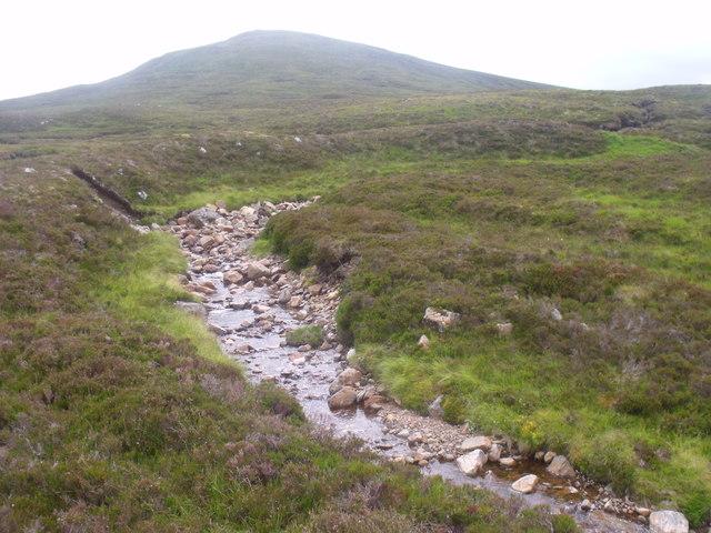 Allt Beithe Mor flowing off Creag Riabhach, Glen Lyon