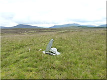 SH7642 : Boundary cairn by Richard Law