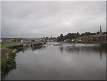 SX9291 : Trew's Weir from the suspension footbridge by Chris Holifield