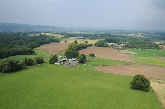View west from Abberley Clock Tower
