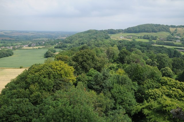 View to Abberley village