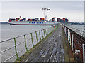 SU4208 : Container ship in Southampton Water by Oliver Dixon