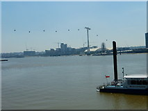 TQ3979 : Emirates Air Line over Bugsby's Reach by Shazz