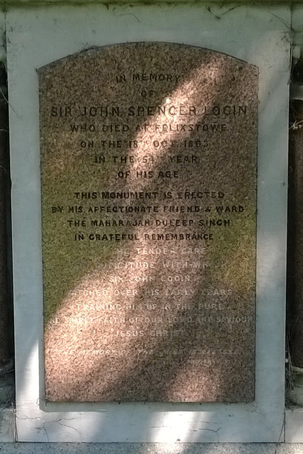 Memorial To Sir John Spencer Login (Detail)
