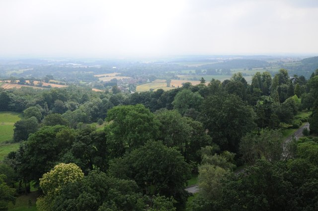 View to the south-east from Abberley Clock Tower