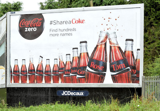 Coca-Cola poster, Dunmurry (July 2014)