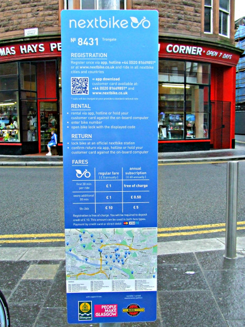 Nextbike Glasgow cycle hire point: Trongate
