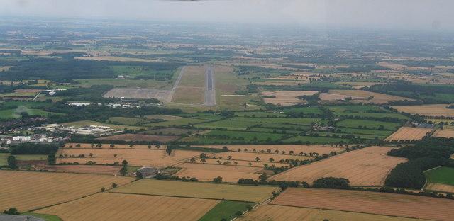 Former R.A.F. Elvington: aerial 2014