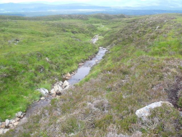 Allt Beithe Mor above Gleann Chomraidh, Rannoch
