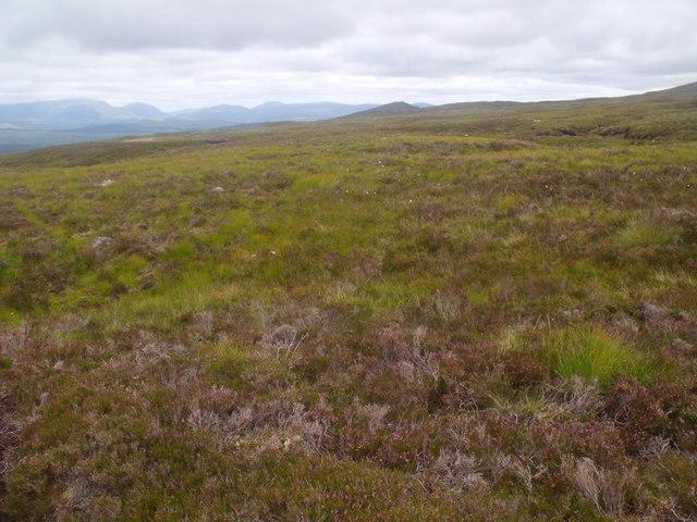 Terrain on the east bank of Allt Beithe Mor above Gleann Chomraidh, Rannoch