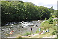 SH5947 : Afon Glaslyn from the WHR by Jeff Buck