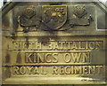 SD5070 : 'Fifth Battalion Kings Own Royal Regiment', Carnforth Civic Hall by Karl and Ali