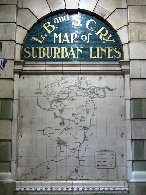 LBSCR Map of Suburban Lines, Victoria Station
