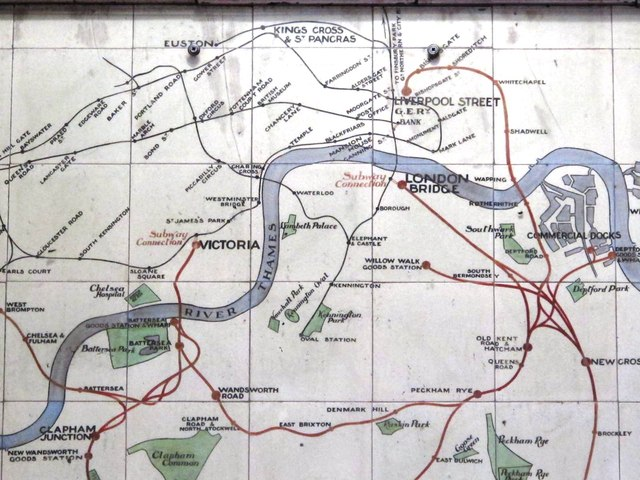 Map Of Quinn Ireland.Lbscr Map Of Suburban Lines Victoria C Mike Quinn Cc By Sa 2 0