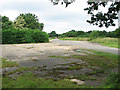 TG1421 : Concreted area beside Brandiston Road by Evelyn Simak