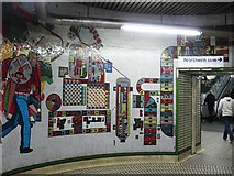 TQ2981 : Tottenham Court Road tube station - Paolozzi mosaic, lower hall (4) by Mike Quinn