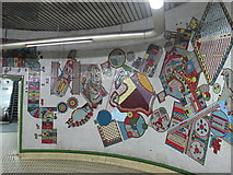 TQ2981 : Tottenham Court Road tube station - Paolozzi mosaic, lower hall (6) by Mike Quinn