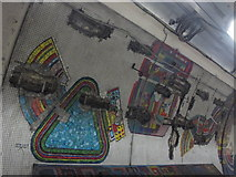 TQ2981 : Tottenham Court Road tube station - Paolozzi mosaic, Central Line (3) by Mike Quinn