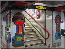 TQ2981 : Tottenham Court Road tube station - Paolozzi mosaic, Central Line (12) by Mike Quinn