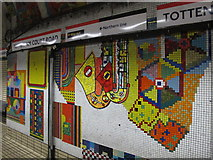 TQ2981 : Tottenham Court Road tube station - Paolozzi mosaic, Central Line (14) by Mike Quinn