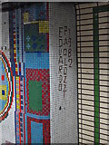 TQ2981 : Tottenham Court Road tube station - Paolozzi mosaic, Central Line (17) (detail) by Mike Quinn