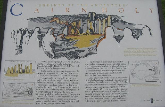 Cairnholy I information panel