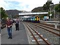 SH7045 : Arrival at Blaenau Ffestiniog by Richard Hoare