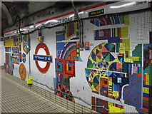 TQ2981 : Tottenham Court Road tube station - Paolozzi mosaic, Central Line (24) by Mike Quinn