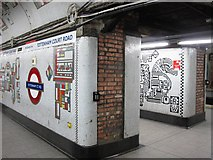 TQ2981 : Tottenham Court Road tube station - Paolozzi mosaic, Northern Line (8) by Mike Quinn