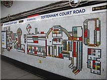 TQ2981 : Tottenham Court Road tube station - Paolozzi mosaic, Northern Line (13) by Mike Quinn